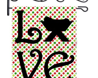 Custom Personalized Garden Sign Nativity Love Dots