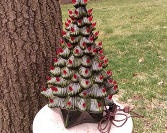 "Vintage 19"" Holland Mold Ceramic Christmas Tree"