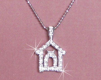 Dazzle Dog House Necklace