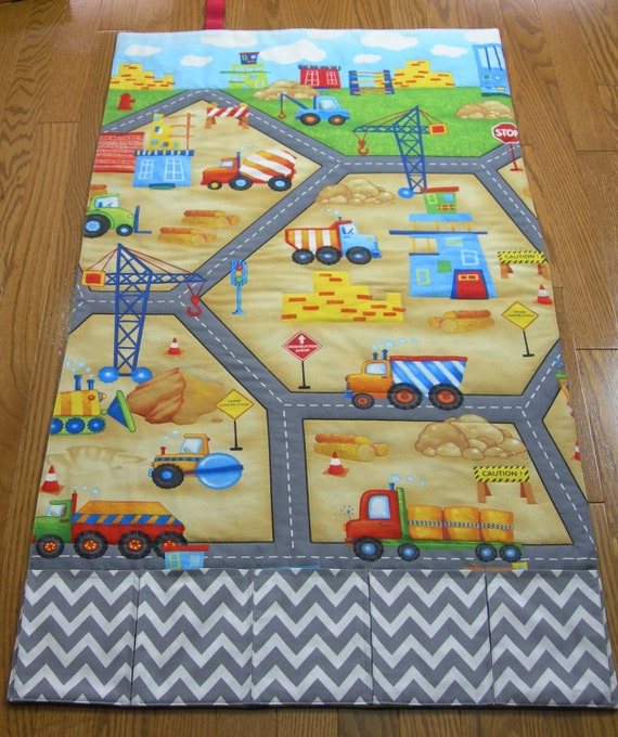 Play Mat-Construction-Road Roll Up Fold Up Travel Play