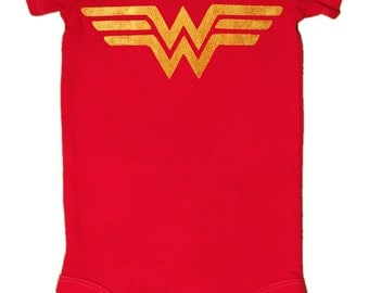 SALE!!! 16.00-->14.00, Wonder Woman, Baby Bodysuit, Superhero
