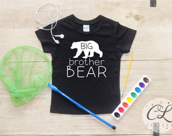 Big Brother shirt / Baby Boy Clothes Big Brother Bear Shirt Little Brother Shirt Baby Announcement Shirt Toddler Baby Shower Gift Shirt 026