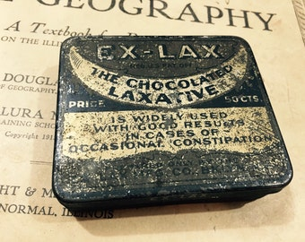 Vintage Ex-Lax Chocolate Laxative Tin