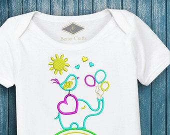50% OFF Elephant Paradise - Machine Embroidery Applique Design 4 Sizes