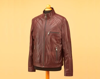 Biker leather Jacket • men leather jacket • leather jacket brown • mens jacket • brown leather jacket•men biker jacket•mens leather jacket