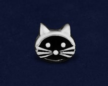 Wholesale Cat Face Shaped Charms (Wholesale Pack - 10 Charms) (CHARM-02-P)