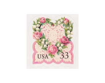 10 Vintage Unused Postage Stamps - 1999 33c Victorian Love - Item No. 3274 - Vintage Postage Shop