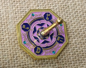 Purple Enamel dreidel