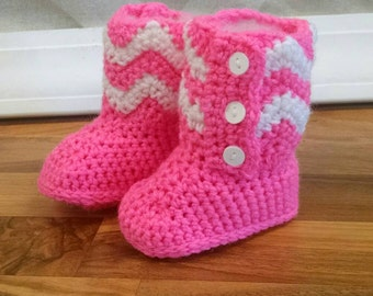 Striped Baby Booties, Toddler Booties, Chevron Striped Boots, Chevron Boots, Baby Boots Crochet Boots, Baby shower gift