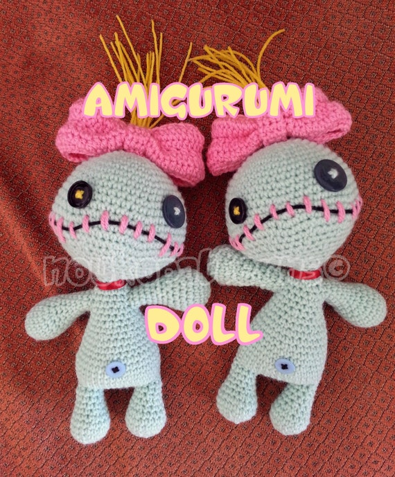 Stitching Amigurumi Together : Scrump the Voodoo Doll Lilo & Stitch Amigurumi Doll