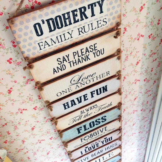 Personalised Wedding Gifts Northern Ireland : ... Rules Sign, House Rules, In this house, New Home Gift, Wedding Gift
