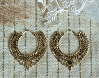 DISCOUNTED Bohemian Brass Hoops