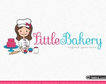 Premade Bakery Logo, Chef Logo, Cake Logo, Cupcake Logo, Children's Cooking Logo, Baking Logo, Character Logo, Wedding Cake logo