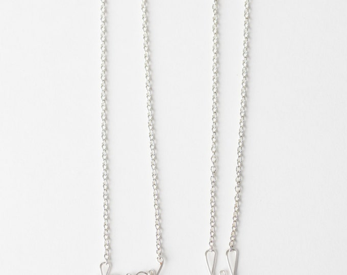 Big and Little Necklace Set (Silver)