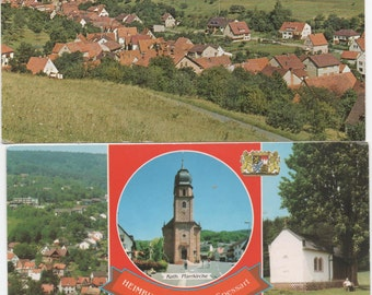 Heimbuchenthal, Germany, 2 Unused Postcards  c1980s, good shape