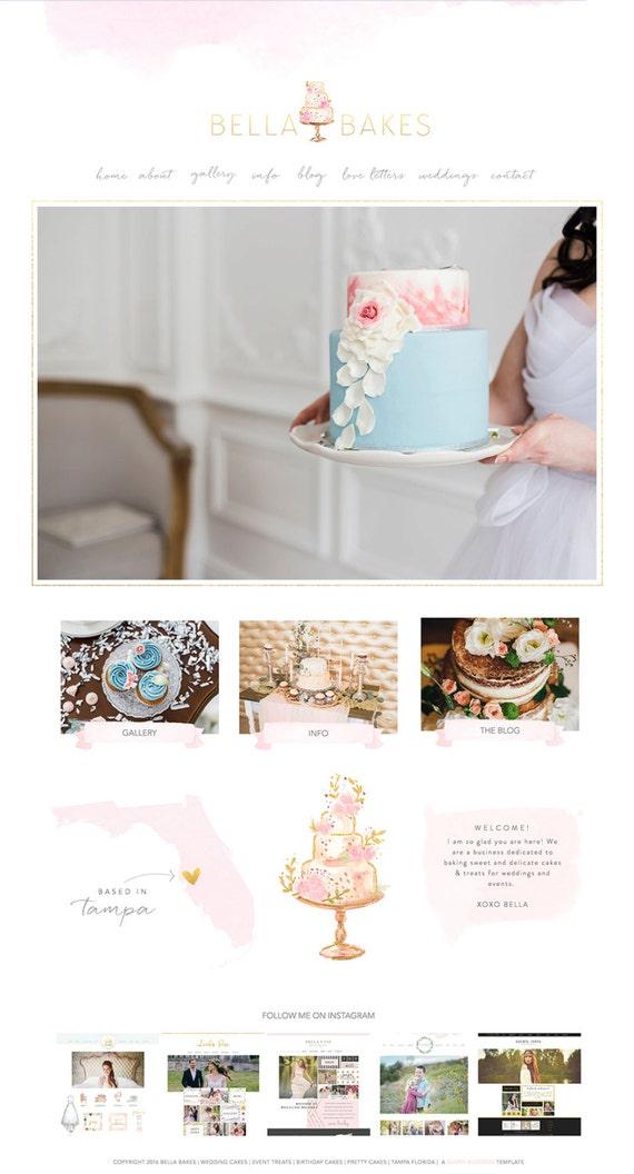Cake Design Website Templates : Wix Website template cake website template wedding cake