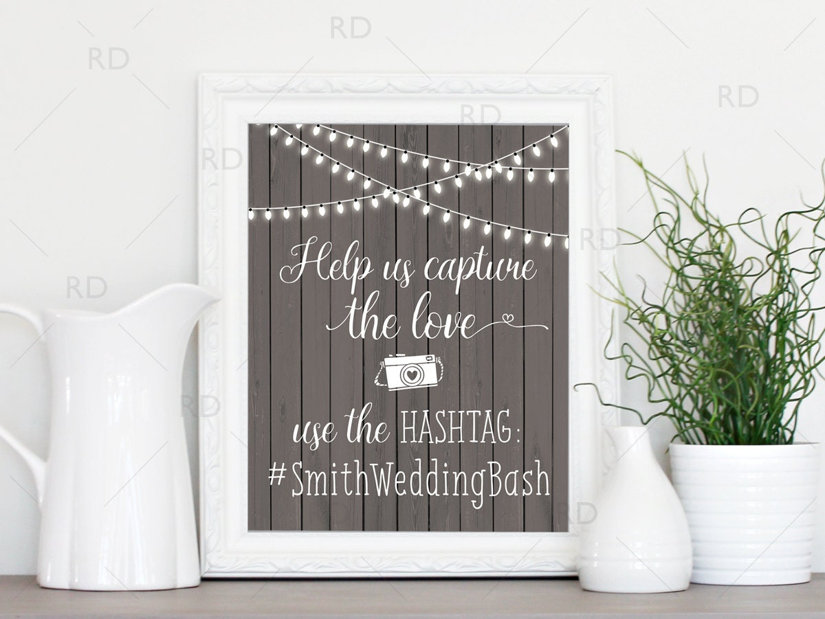 how to create a hashtag for a wedding