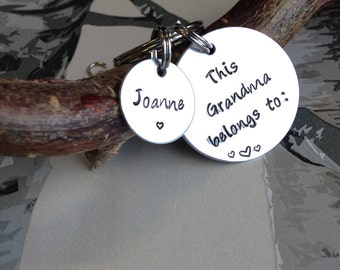 Gift from Grandkids - Gift for Grandma - Grandma Gift - Grandma Keyring - Personalised keyring - Gift for Grandad - Gift for Nanny