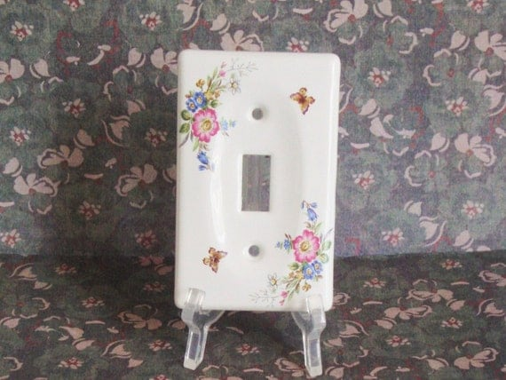 lightswitch cover switch plate cover decorative ceramic. Black Bedroom Furniture Sets. Home Design Ideas