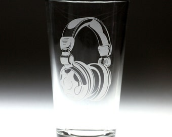 Custom personalized Headphones engraved glass , dj gift , dad gift , brother gift , christmas gift , friend gift , music gift