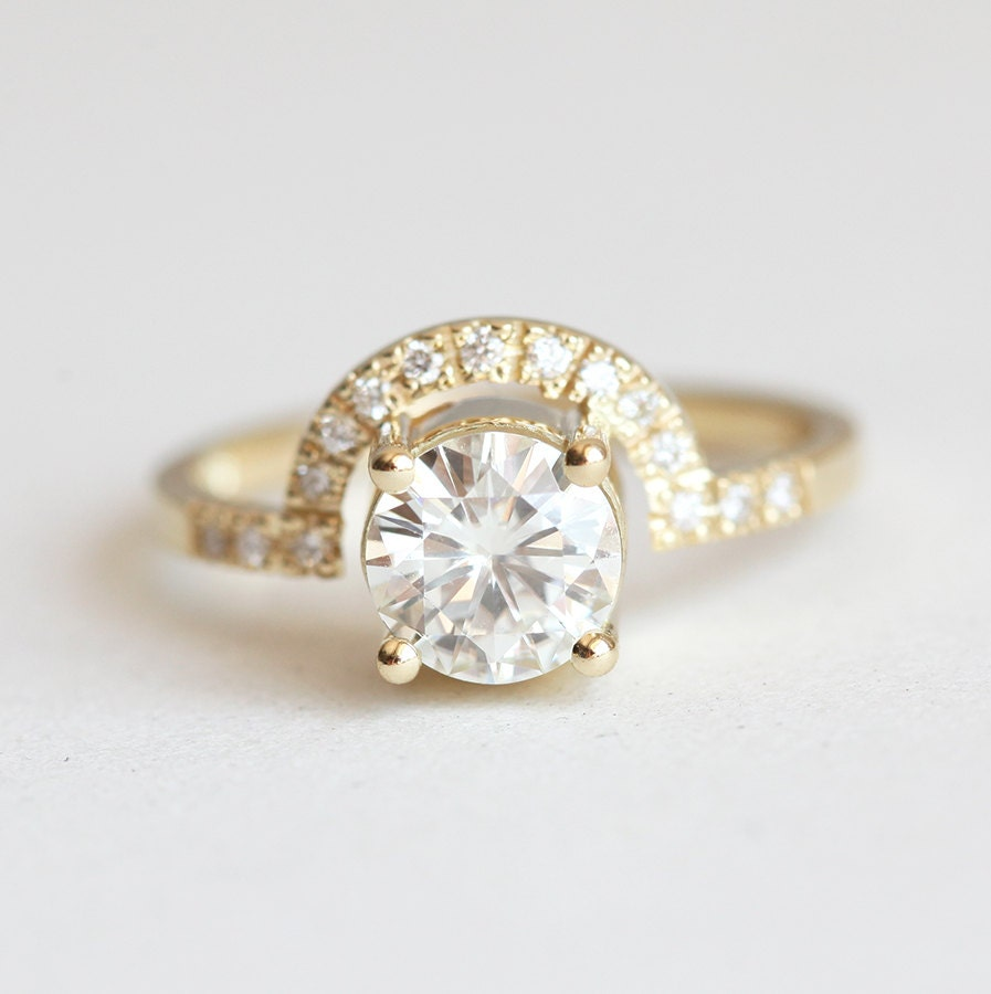 Moissanite Ring Diamond Wedding Ring Diamond Engagement