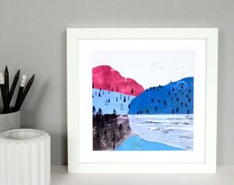 Mountains Collage Print