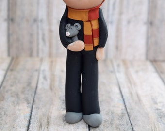 Ron Weasley Ornament, Harry Potter ornament, Ron Weasley Cake Topper, Hogwarts Christmas ornament, Christmas ornament, Ron and Scabbers