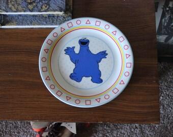 Cookie Monster Porcelain Plate