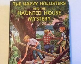 Vintage Children's Book The Happy Hollisters and the Haunted House Mystery 1962 Retro Hard Cover Book