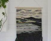"Handwoven wall hanging | Weaving | Handwoven | Wall art | Fibre art | Textile art | Interior decor  - ""Seaweed"""