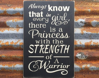 Always know that in every girl -Handmade Wood Sign