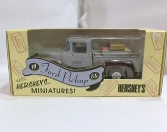 ERTL Collectibles 1956 Ford pick up with Hershey's Miniatures.