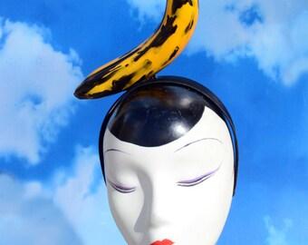 Andy Warhol Pop Art Banana Headband Fascinator