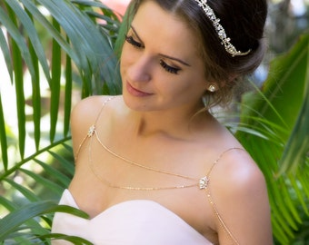 Rhinestone Bridal Headband, Rhinestone Bridal Headpiece, Wedding Headpiece, Wedding Headband, Bridal Hair Accessories, Wedding Hair H5W