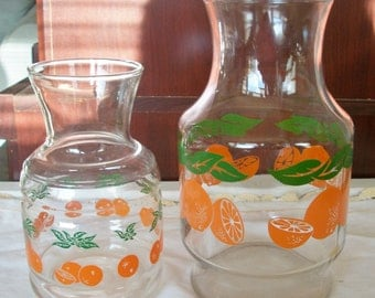 Vintage Orange Juice Carafe