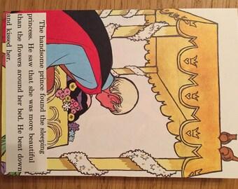 Vintage Disney handmade card: Snow White (A6); anniversary card; disney card; birthday card; engagement card; love card