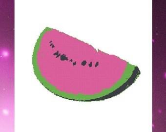 Watermelon cross stitch PDF pattern - Instant download - Cross Stitch Planet