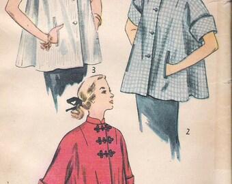 Vintage 1950's Simplicity 3616 Maternity  Smock Blouse