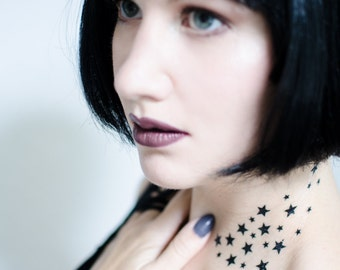Spray of Stars Temporary Tattoo