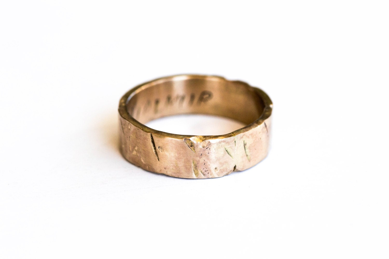 Viking Wedding Ring, Gold Mens 🔎zoom