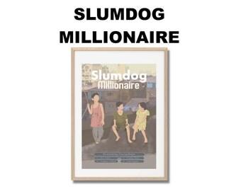 Slumdog Milionaire Movie Print - Poster Danny Boyle Loveleen Tandan A3