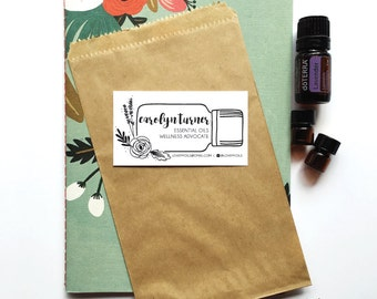 printable essential oil sample cards hand illustrated design