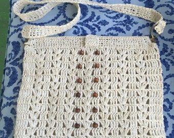Vintage Crochet shoulder handbag