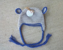 ALREADY MADE - 6-12 MONTHS - Cute and warm Bear Hat! Handmade crochet baby hat! Hospital pictures - Baby pictures - Newborn photo shoot