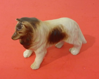 Vintage Collie Figurine, Lassie, Occupied Japan, 1950