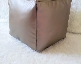 Pouf Ottoman- Pillow Pouf- Square Pouf- Floor Pouf,Ottoman,Furniture, Pewter Pillow Pouf, Floor Pillow