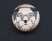 Border Terrier Brooch Handmade Dog Brooch Perfect as a Small Christmas Gift  Stocking Filler.