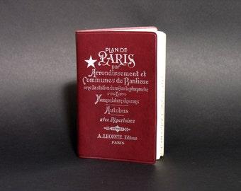 French Map Book of Paris - Vintage Map of Paris - Streets Guide of Paris - Big Vintage Map Paris and Suburb - Paris Subway and Bus Stations