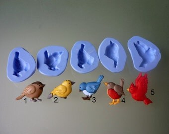 Silicone molds to choose from, birds theme