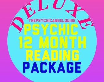 DELUXE 12 month package Psychic Tarot Reading  in LIVE VIDEO and Jpg